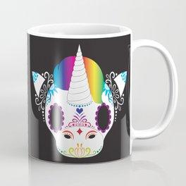 Day of the Dead Unicorn Block Coffee Mug