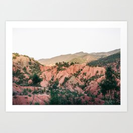 Orange mountains of Ourika Morocco | Atlas Mountains near Marrakech Art Print