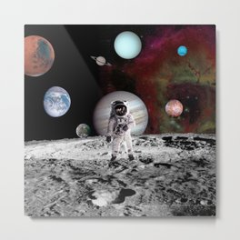 flaying in space Metal Print