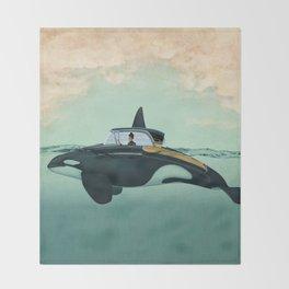 The Turnpike Cruiser of the sea Throw Blanket