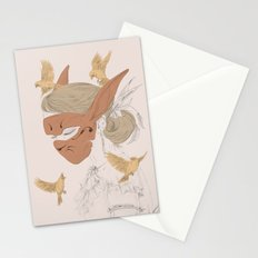 hare and sparrow  Stationery Cards