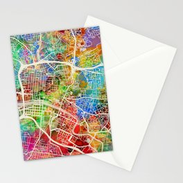 Glasgow Scotland City Street Map Stationery Cards