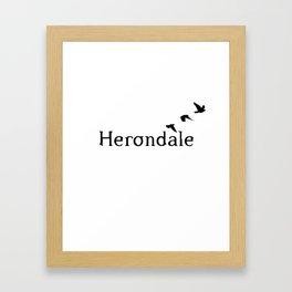 Herondale Framed Art Print