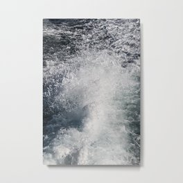 Water Behind A Ship Metal Print