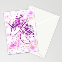 Unicorn Pink Sparkle Stationery Cards
