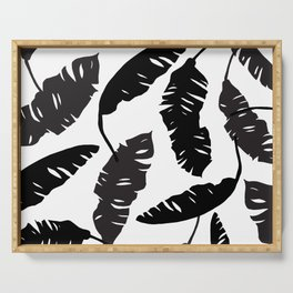 Banana Leaves Pillow Cover Serving Tray