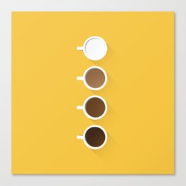 Coffee + Simplicity Canvas Print