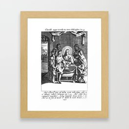 Jesus Appeared to the two Disciples.   Framed Art Print
