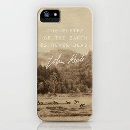 Keats: Poetry iPhone Case