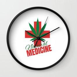 Natural Medicine Wall Clock