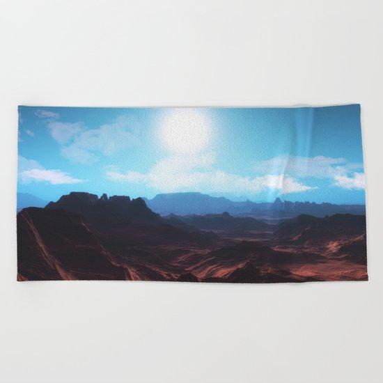 Mountain landscape II Beach Towel