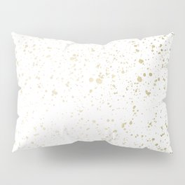 Los Angeles Nights Gold Paint Pillow Sham