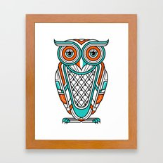 Art Deco Owl Framed Art Print