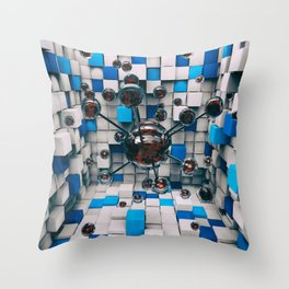 Distorted Perception Throw Pillow