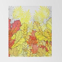 Gold autumn. Throw Blanket