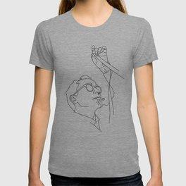 Jean-Luc Godard minimal line drawing T-shirt