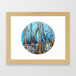 Asheville Winter Framed Art Print