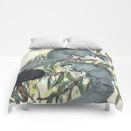 Sugar Glider in the forest of Australia and USA Comforters