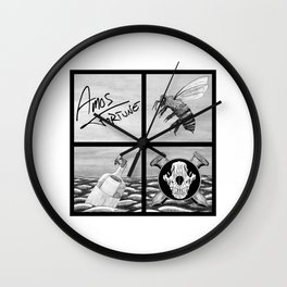 Amos Fortune Bees & Seas Grid Wall Clock