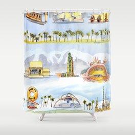 Golden State Shower Curtain