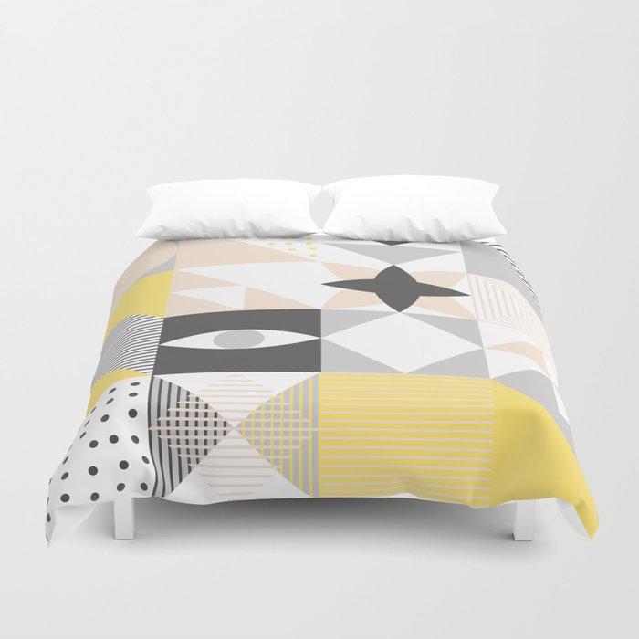Geometric Pattern Based On Scandinavian Graphic Design Duvet Cover