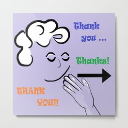 ASL Thank You! Metal Print