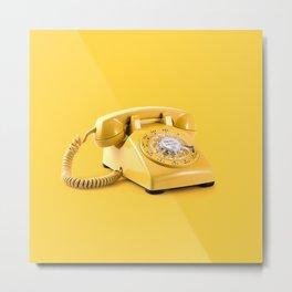 Yellow telephone Metal Print