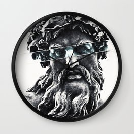 Zeus the king of gods Wall Clock