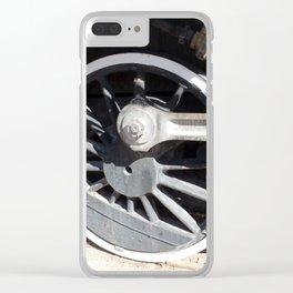 Locomotive 2355 Steam Engine Wheel 1912 Clear iPhone Case