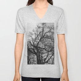 Old oak tree. Moscow district. Unisex V-Neck