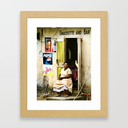 St. Vincent Snack Bar Framed Art Print