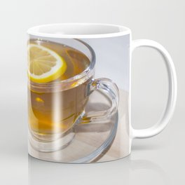 A cup of tea in a circle of friends, a warm atmosphere Coffee Mug