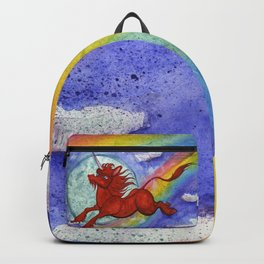 Cadmium Red Unicorn in Moonlight Backpack