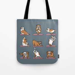 English Bulldog Yoga Tote Bag