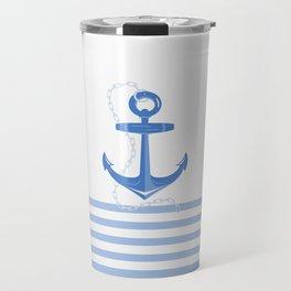 AFE Dark Blue Nautical Anchor Travel Mug