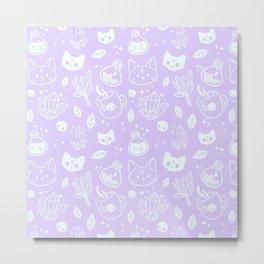 Herb Witch // Purple Pastel Metal Print
