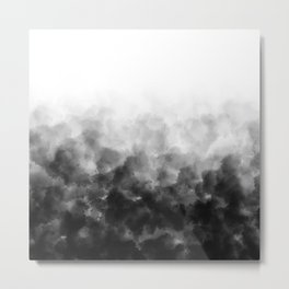 Ombre Smoke Clouds Minimal Metal Print