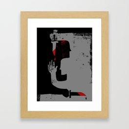 Knife Fight Framed Art Print