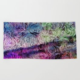 Fusion Of Pastel Beach Towel