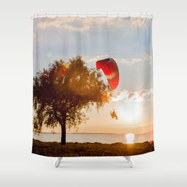 Grand Escape on Summer Sunset Shower Curtain