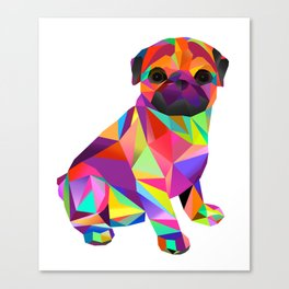 Pug Dog Molly Mops Canvas Print