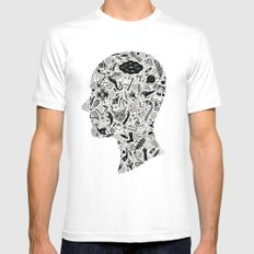 It's All In My Head X-LARGE Mens Fitted Tee White