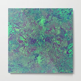 Cool And Calm - Abstract blue and purple painting, icy, chilled out, calming, relaxing artwork Metal Print