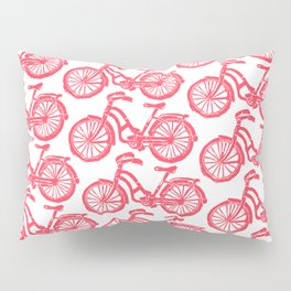 roule ma poule - wanna ride my bicycle red Pillow Sham