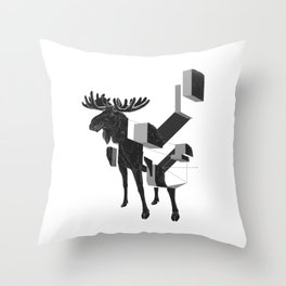 moose_deconstructed Throw Pillow