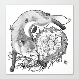 Torn By The Fox Of The Crescent Moon Canvas Print