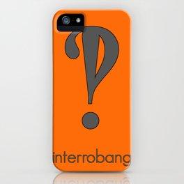 Interrobang, Serif iPhone Case