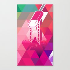 Raspberry Popsicle Canvas Print