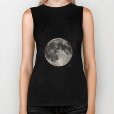 The Moon  [Sans Type] Biker Tank