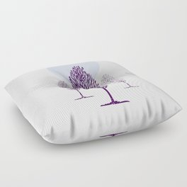 Cold Trees Floor Pillow